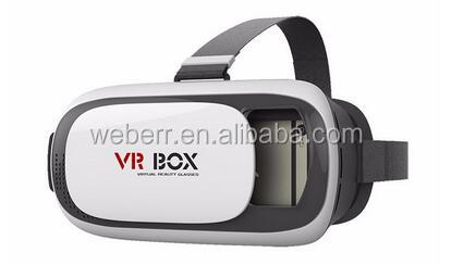 Low cost HD VR BOX 2.0 Virtual Reality Glasses 3D VR Headsets Helmet with Bluetooth Remote Controller