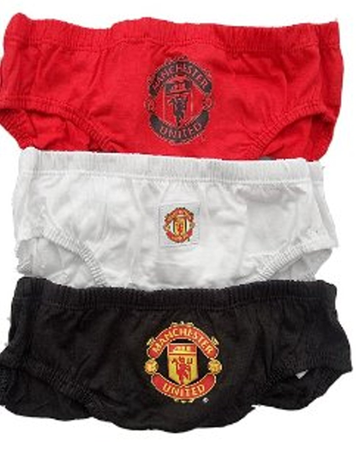 Manchester United Kids (Boys Youth) Briefs - 3 Pack