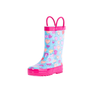 design your own china wholesale matin glow pvc for children winter economic kids umbrella rain boots