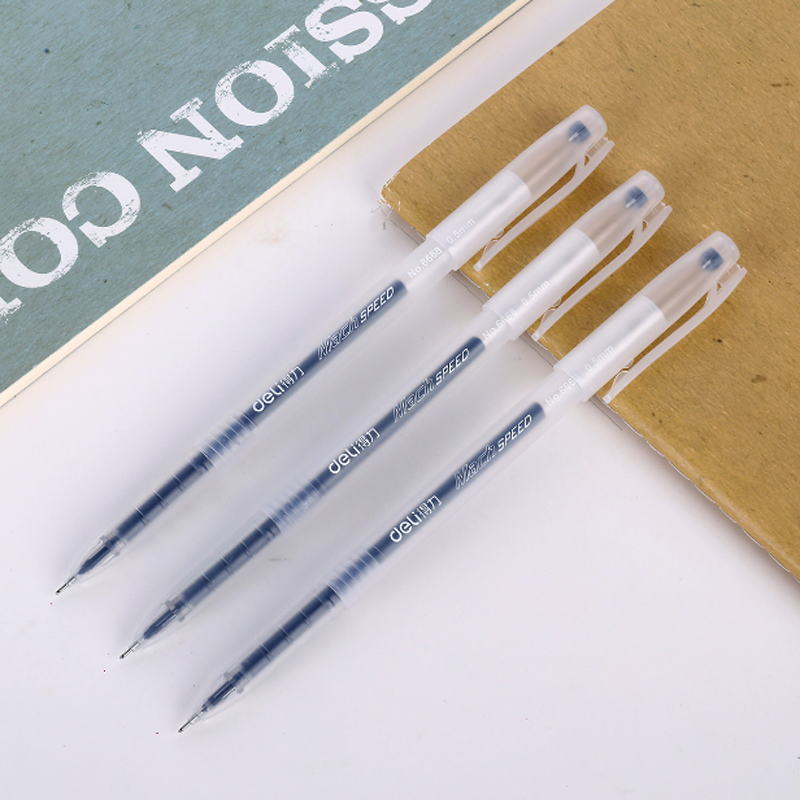 high quality transparent barrel plastic white gel pen with free refill