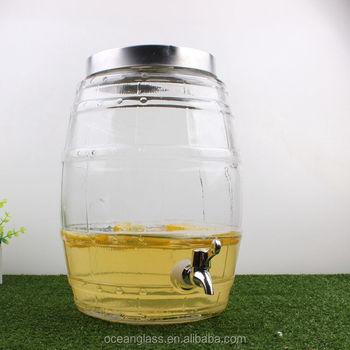 3 Gallon Glass Water Dispenser Glass Beverage Dispenser With Tap