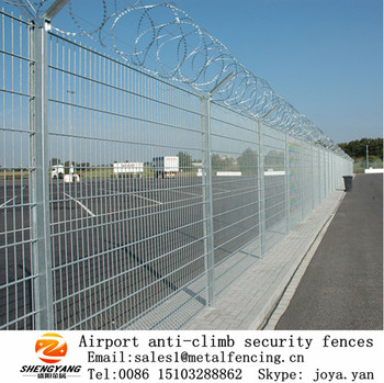 Solid Anti Cilmb Airport Security Welded Fences Fashion