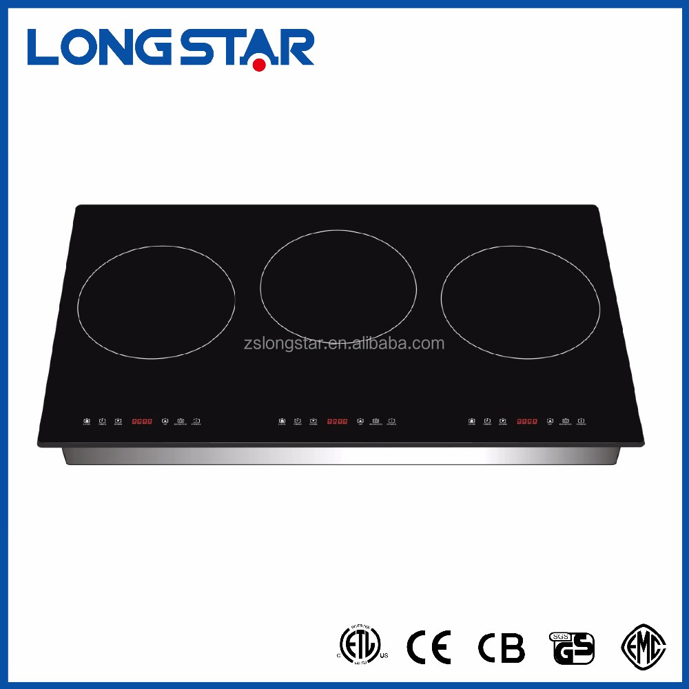 2018 New Model 3 burner induction cooker/touch screen induction hob/good price induction stove 5300w