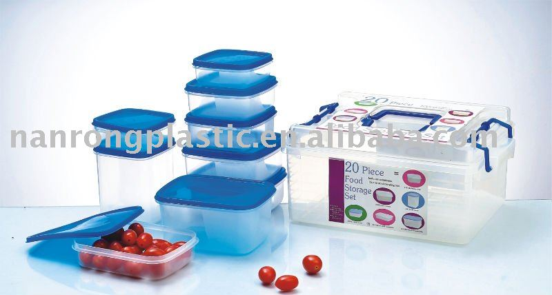 20pcs plastic food container set