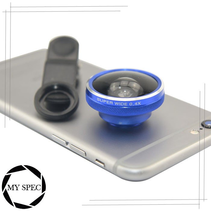 Common Aluminum Material 0.4x Super Wide Angle Cell phone lens for Sony