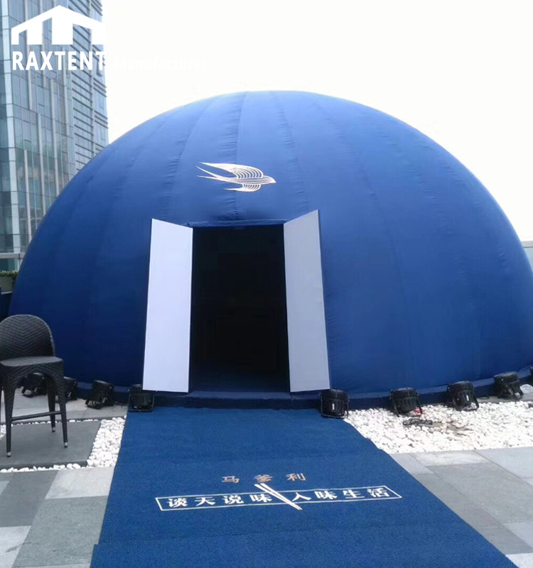 Geodesic Dome Event Tent with inside Projection