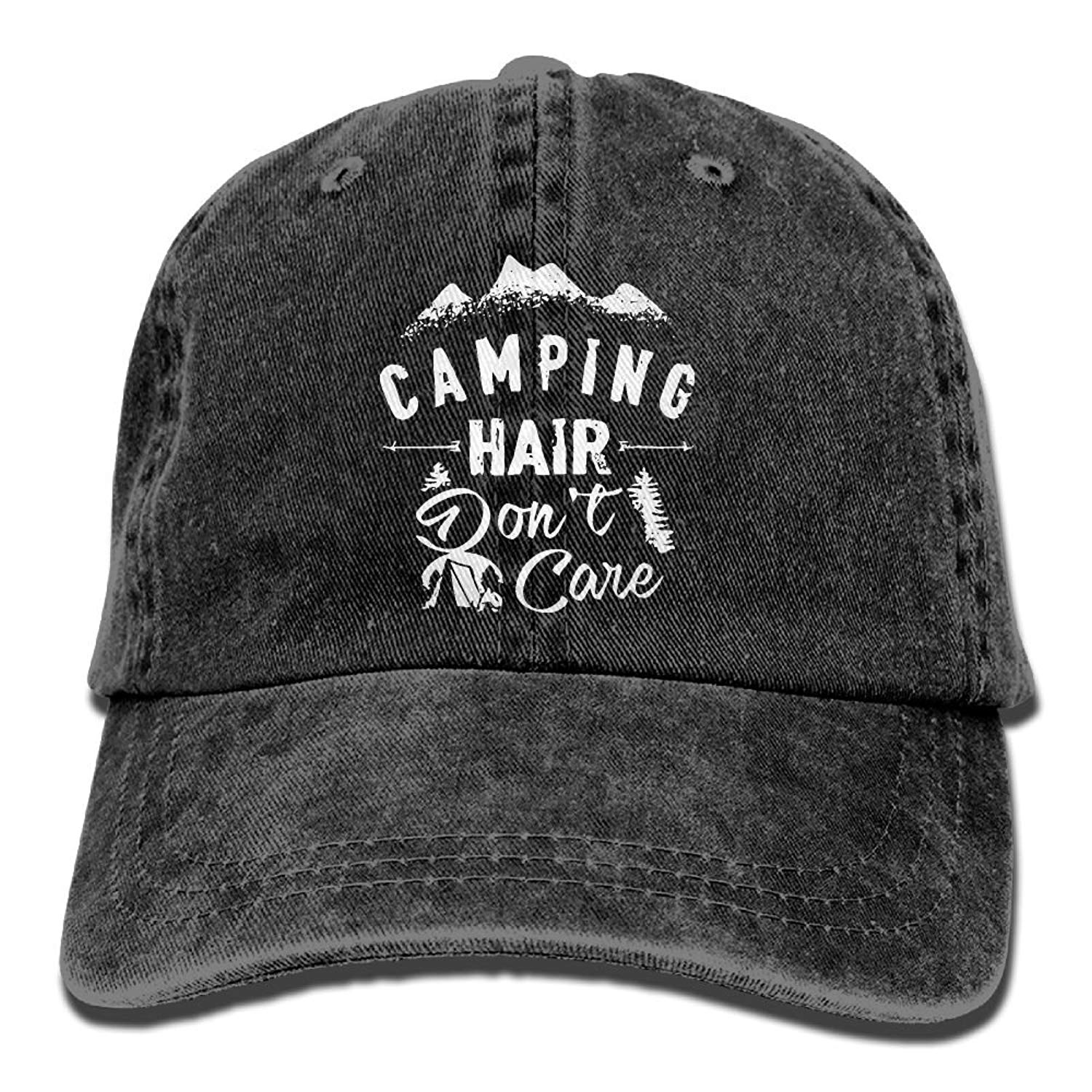 2c433d4171f Get Quotations · Splash Brothers Customized Unisex Camping Hair Don t Care Vintage  Jeans Adjustable Baseball Cap Cotton
