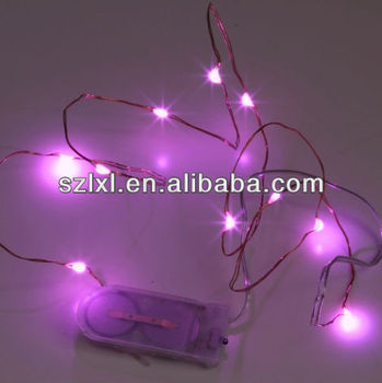 Pink Color 20 Leds Micro Fairy Seed Light/ Copper Wire Ultra Thin ...