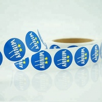 colourful round printed 15mm stickers custom logo label