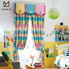 Factory supply printed make window treatment shade printing cartoon curtain for children