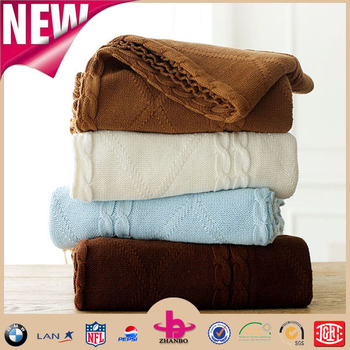 Multi Function Blankets Sofa Throws Large Knit Bedding Soft Acrylic Sweater Blanket Cotton Warm Throw