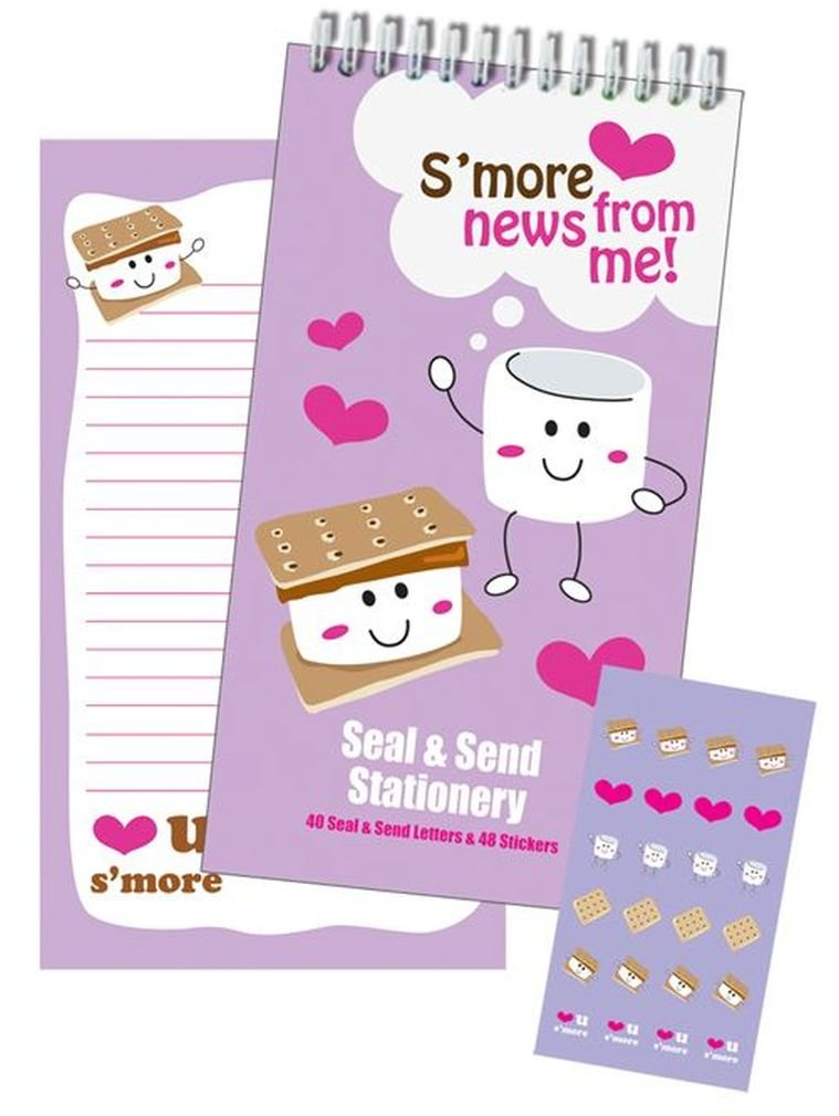 iscream 'Love You S'more' Seal and Send 40 Sheet Stationery Pad with Sticker Seals