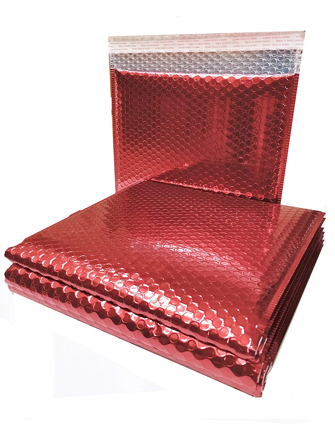 20 Pack Metallic Bubble Mailers 7 x 6.75. Red Padded Envelopes 7 x 6 3/4. Glamour Bubble Mailers Peel & Self Sealing Cushion Packaging Mailers. Poly Mailing Packing Wrapping Shipping Envelopes.