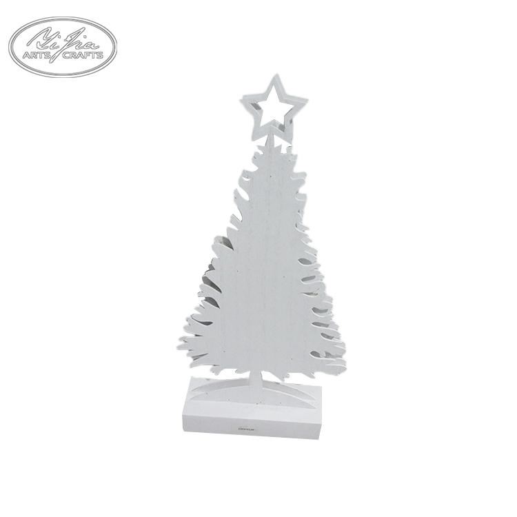 Ccustom iluminação do vintage mini bonito de madeira esculpida árvores de natal brancas