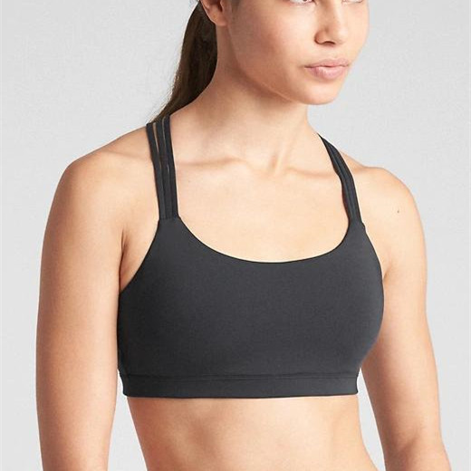2019 New Design  High Quality Women's High Impact Strappy Sports Bra Yoga
