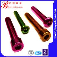 M6*25 Red Colored Decorative Anodized Aluminum Bolt