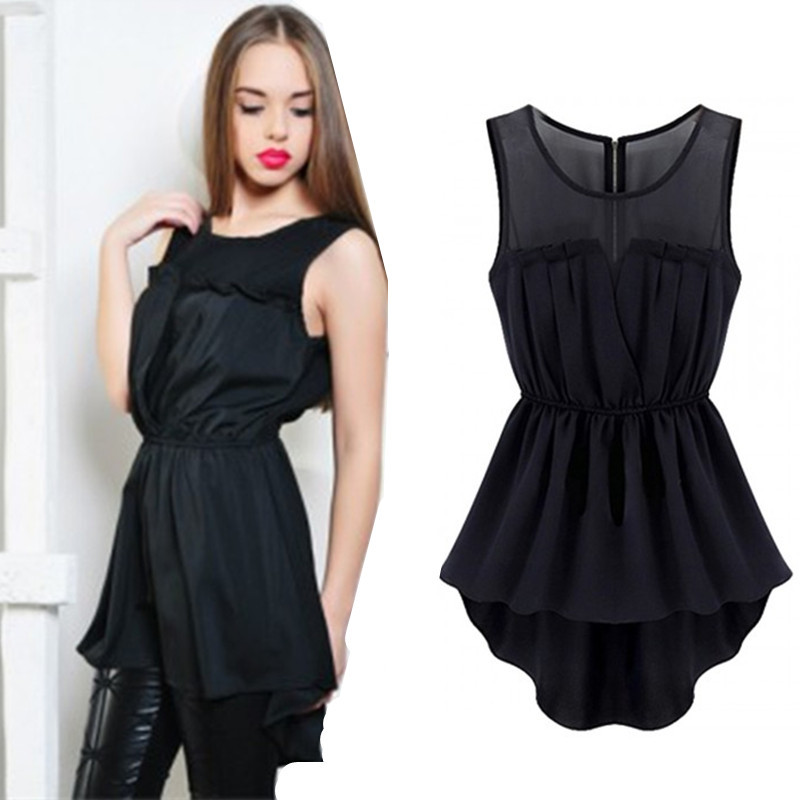 d586ec27c3 Get Quotations · 2015 Hot Black Sheer Insert Hi Lo Skater Dress Mesh Insert  Fit and Flare High Low