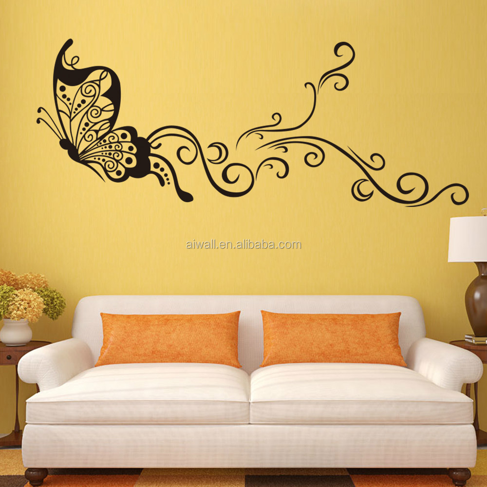 9315 Large Size Butterfly Wal Stickers DIY Home Decorations Wall Decals  Living Room Part 41