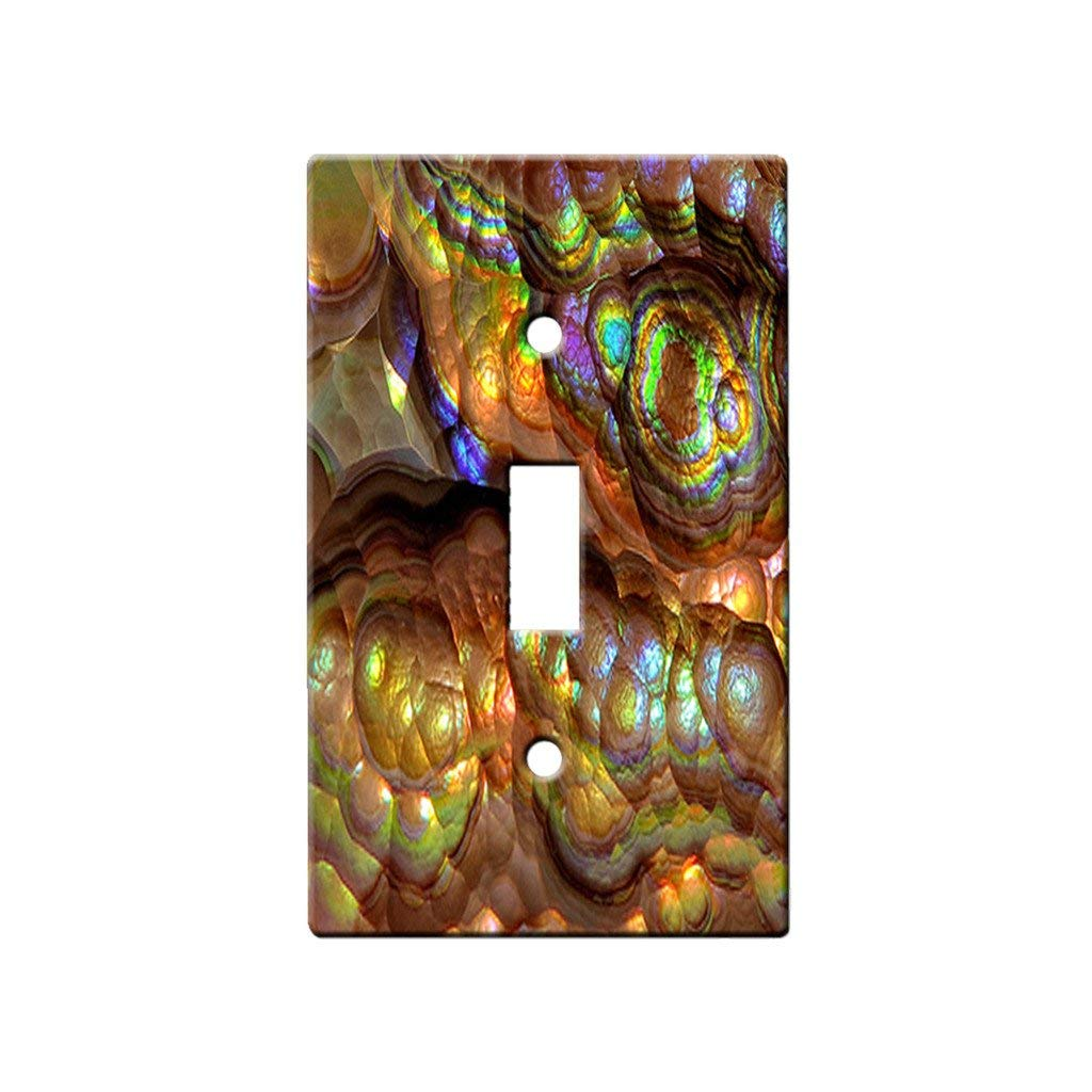Crystal Rainbow Opulence - Decor Single Switch Plate Cover Metal