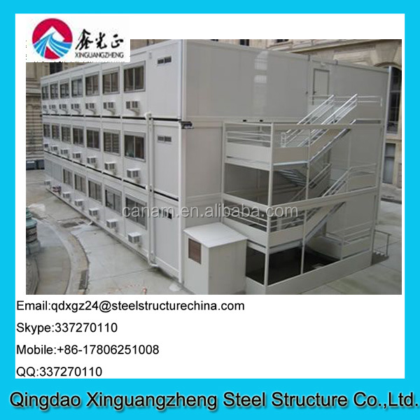 layers container data center office steel structure building