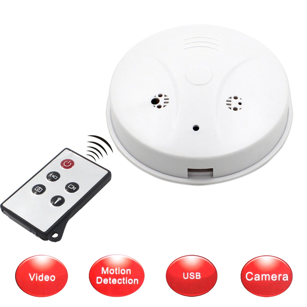 hd 720p sound and light wireless smoke detector hidden camera smoke detector camera smoke. Black Bedroom Furniture Sets. Home Design Ideas
