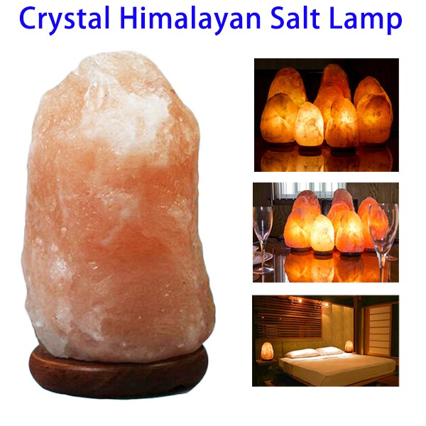 High Quality Hand Carved Natural Crystal Himalayan Rock Salt Lamp