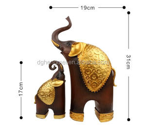 resin elephant japanese animal figurines