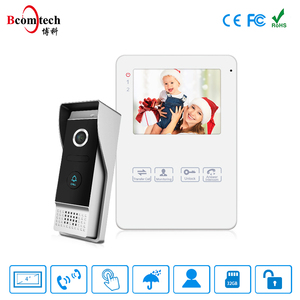 Bcomtech 4 Inch Color TFT Smart Home / Video Door Phone Intercom System with DoorBell