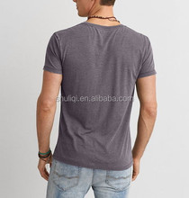 Wholesale High Quality Wide Neck Bamboo Men T Shirt with Front Pocket Sample Welcome and Quick Delivery