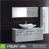 Commercial FSC Cabinets High Gloss White Vanity Cabinets Wall Mounted MDF Bathroom Cabinet Units
