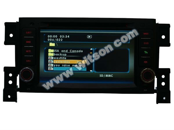 WITSON suzuki grand vitara car dvd gps navigation system