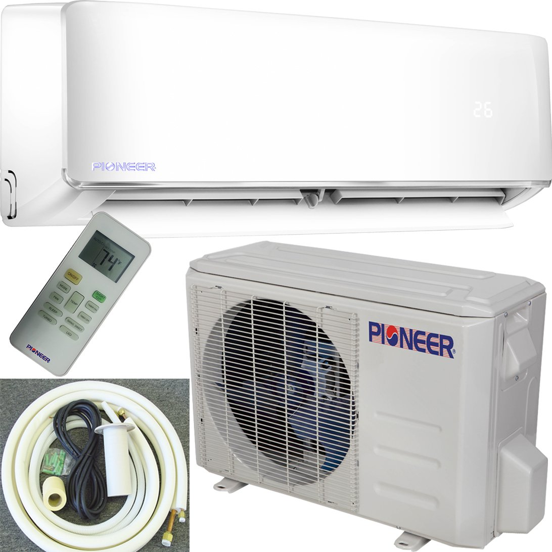 Pioneer Air Conditioner Inverter++ Ductless Wall Mount Mini Split System Air Conditioner & Heat Pump Full Set, 12000 BTU 230V