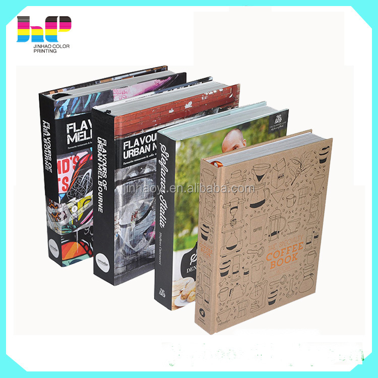 hot stamping hardcover book printing with jacket