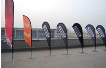 3.5m flag pole with 60x260cm Trade Show Feather Flag For Advertising