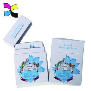 Directly manufacturer custom interesting economic recycled coated paper children flash card with box