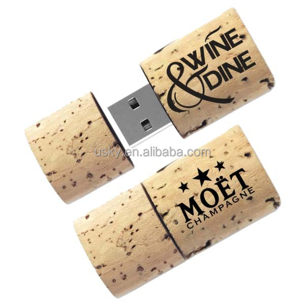 New Arrival Promotion Original Wooden Usb 1g 2g 4g 8gwine Cork Usb Laser Print For Wedding Gift Mini Special Giveaway