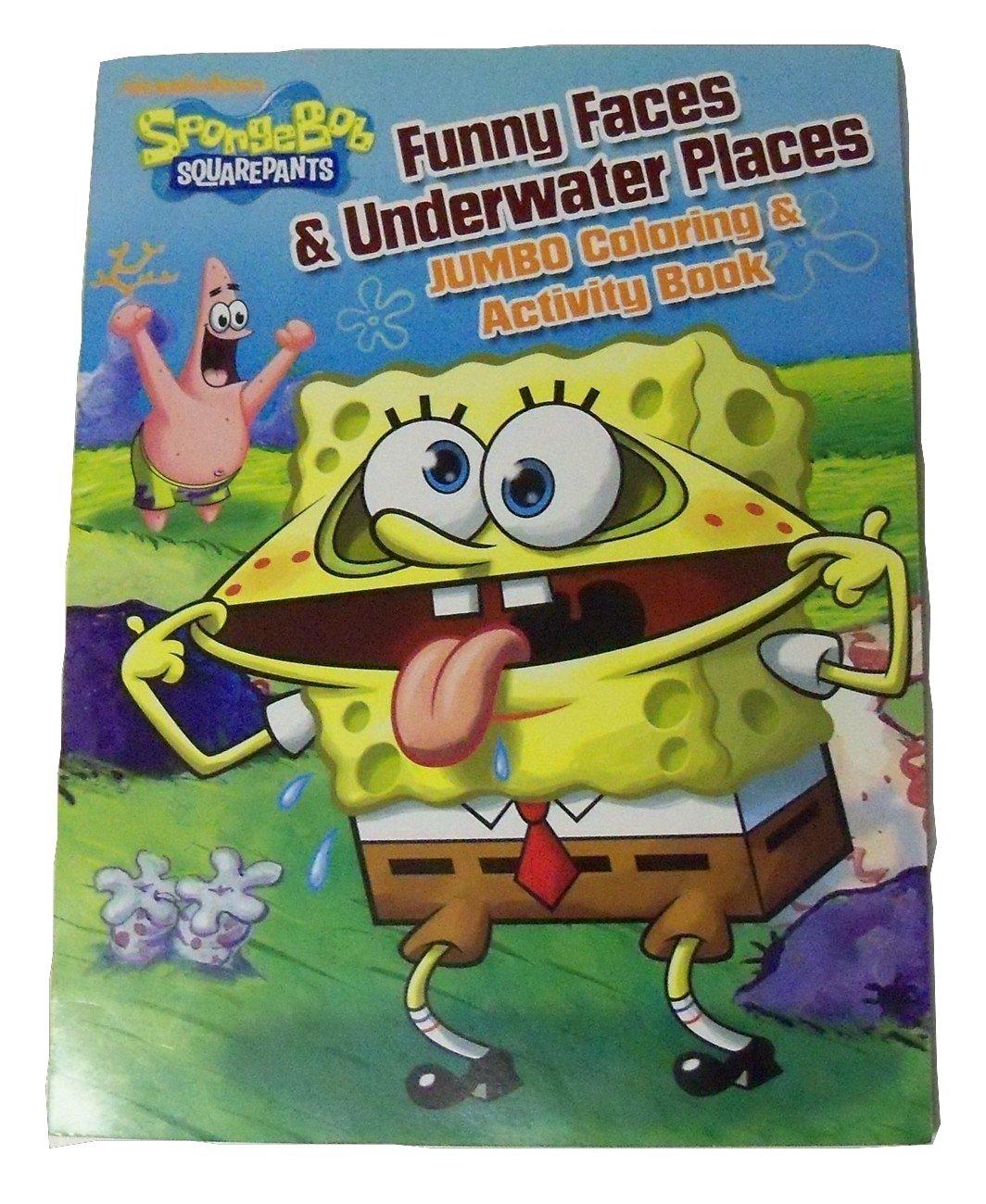 buy spongebob squarepants jumbo coloring activity book funny