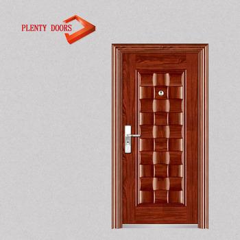 De acero de hierro seguridad de metal entrada principal for Modelos de puertas de metal para casas