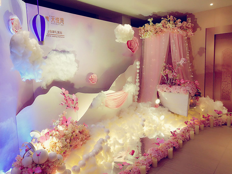 artificial cotton looks like clouds for party /display window/playground decoration