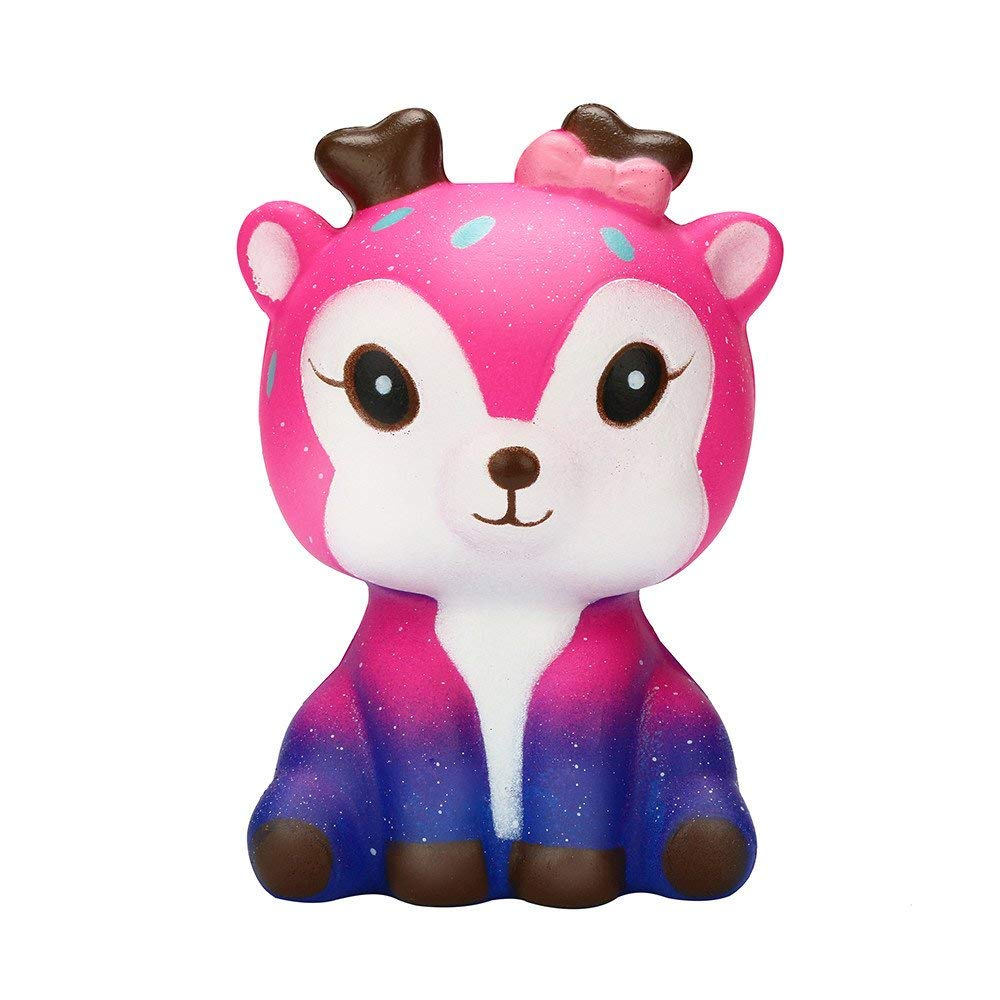 callm Squishies, Slow Rising Toys,Jumbo Squishy Stress Relief Toys Kawaii Galaxy Deer Scented Squishies for Kid