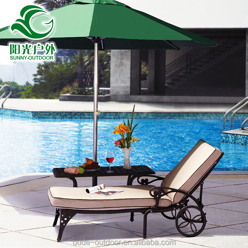 Comfortable and quality outdoor patio lounge chair/Swimming pool chaise lounge