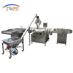 automatic can/jar/tin coffee powder filling machine