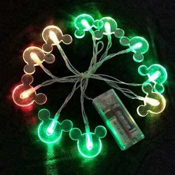 micky shaped string light christmas decorative halloween party mickey mouse decorative string lights - Mickey Mouse Christmas Lights