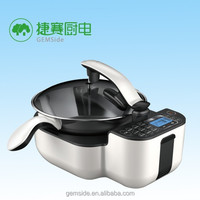 stainless steel cookware with safety valve for automatic cooking