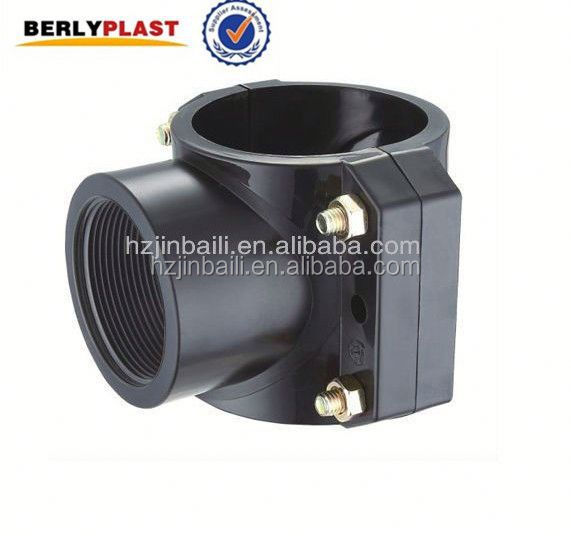 Plastic PP Pipe Clamp Connector For Irrigation System