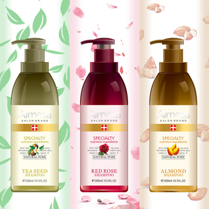 OEM/ODM Supplier Tea tree shampoo/ Rose shampoo/ Almond oil shampoo 300ml with pump