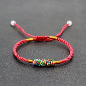 Rainbow Corn Knot Tibetan Bracelet Red Rope Braided Macrame Bangle Fashion  Jewelry - Buy Knot Bracelet,Rope Braided Macrame Bangle,Tibetan Bracelet