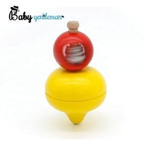 Classic mini wooden toys spinning top for children Z01308A