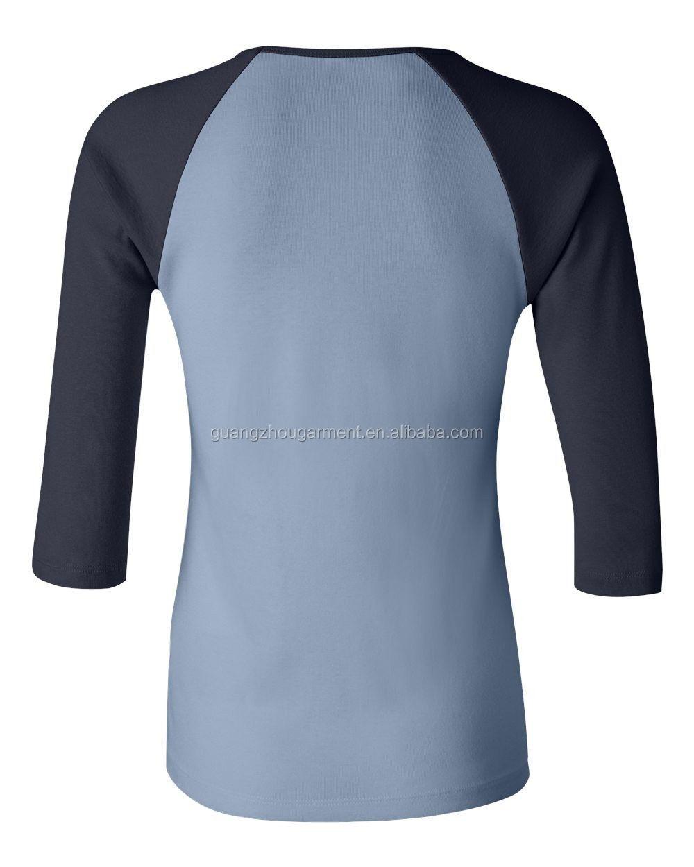 Custom Autumn Sport Design Ladies Two Tone Three Quarter Sleeve