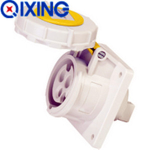 32A 3P 4H Yellow IP67 Industrial Sockets